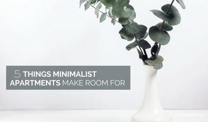 5 Things Minimalist Apartments Make Room For