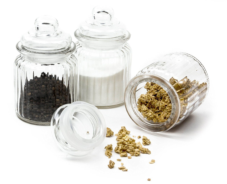 Winter Cocktail Bar Cart Essentials | Glass Apothecary Jars