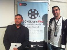 Dani Arrébola de Apetece Cine con Agustí Argelich, director del festival.
