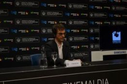 Atom Egoyan en la rueda de prensa del Festival de San Sebastián.