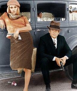 Faye Dunaway y Warren Beatty como Bonnie y Clyde (Imágen de antiknewconcept.com)