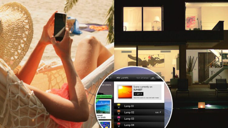 Systems such as Philips Hue can remotely control your home while you're on your hols