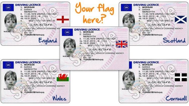 Would you like your country - or even county - on your licence? Tell us here