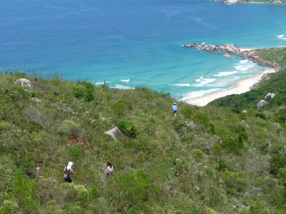 Vista para a Praia da Galheta