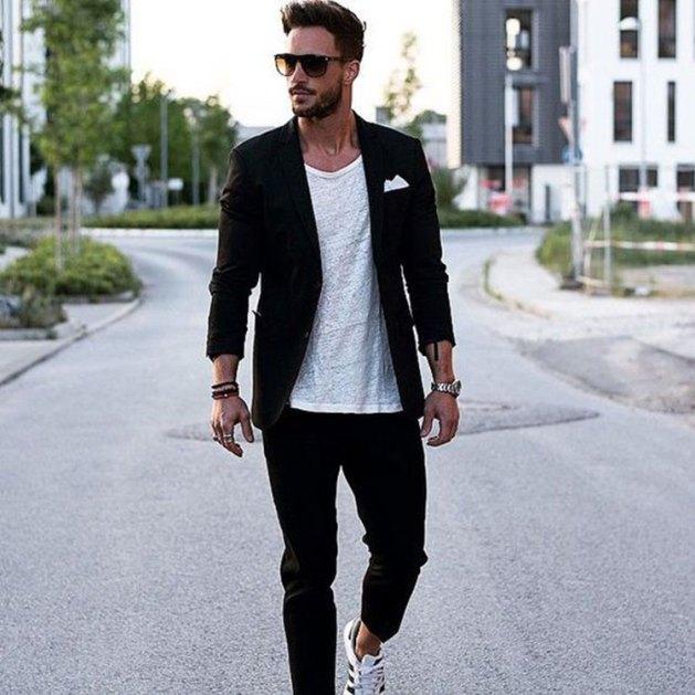 blazer preto masculino