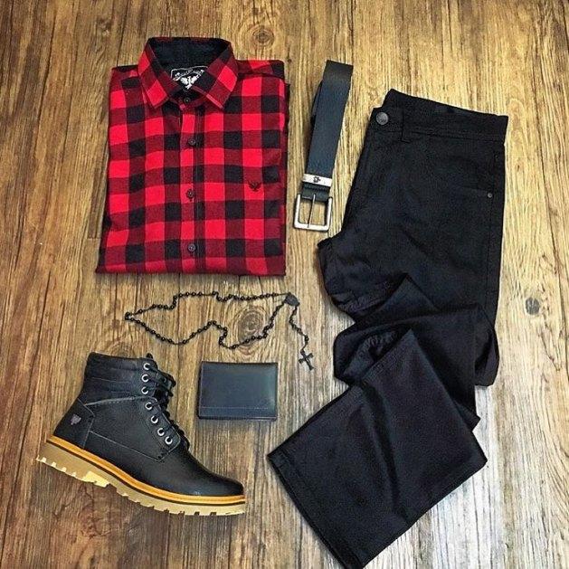 combo-black-camisa-xadrez-vermelha-preta