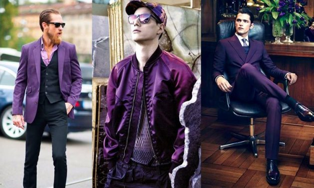 looks masculinos cor ultra violet