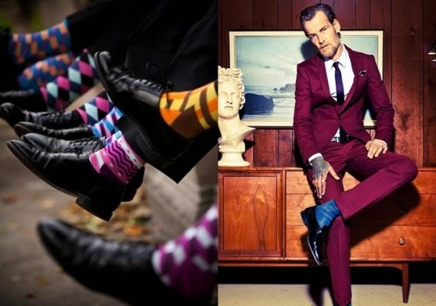 meias estampadas aparentes tendencia colorida