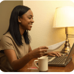 small business lady at computer