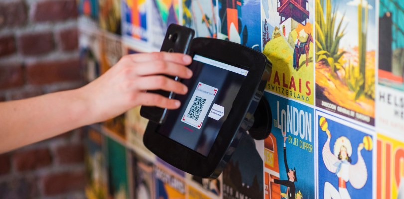 Contactless check-in through mobile and scanner