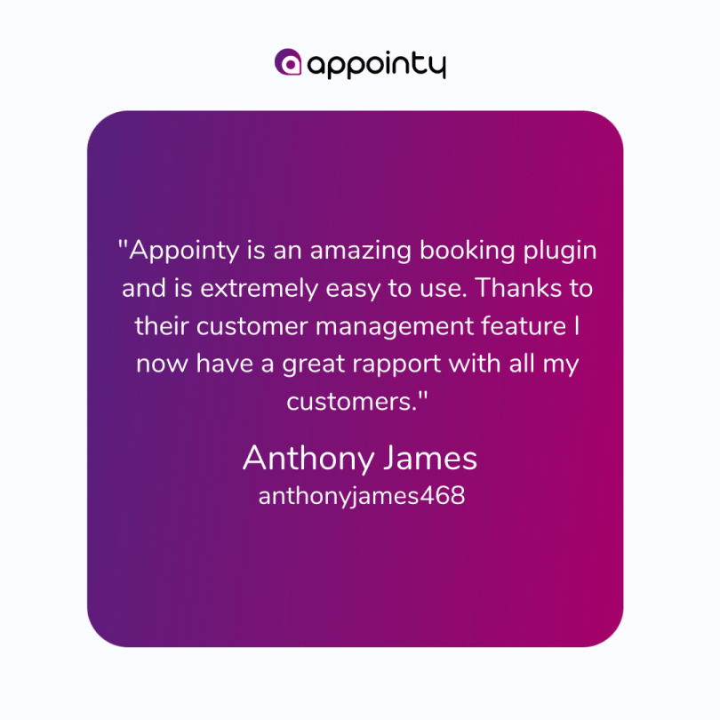 Customer talking about Appointy's ease of use