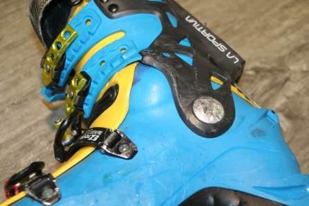 Chaussure de Ski après l'utilisation de l'Ultracam