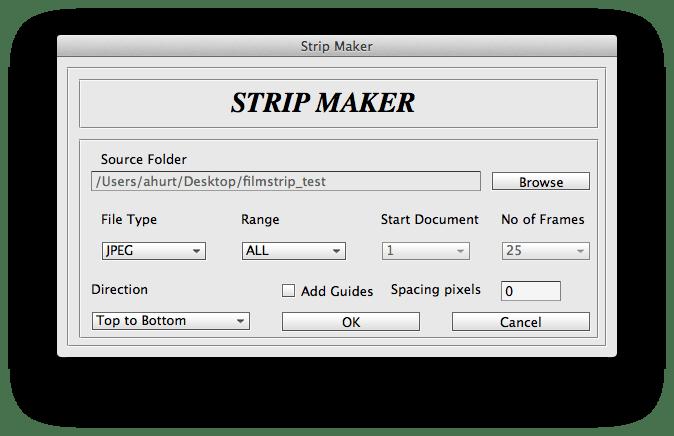 the StripMaker interface