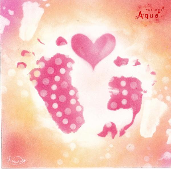 バレンタインアート「Love×3」