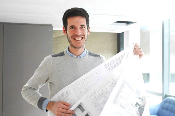 Paul a recu ses trois planches d'architectes