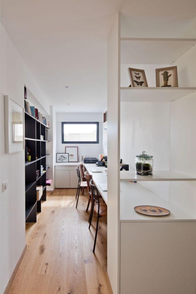 Archibien projet rénovation de maison à Nantes. Un joli bureau pour travailler ou se détendre.