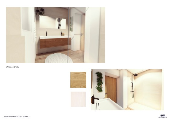 Planche de proposition d'une agence d'architecture.