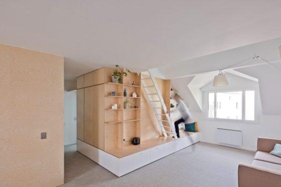 Intérieur appartement salon