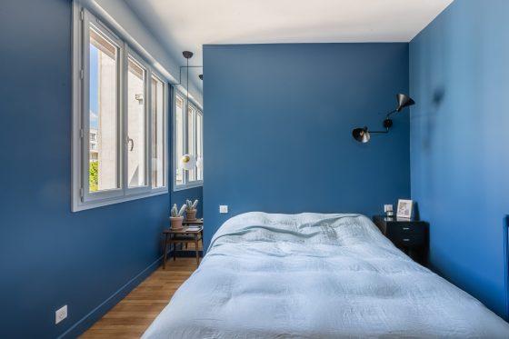 Chambre parentale rénovée appartement