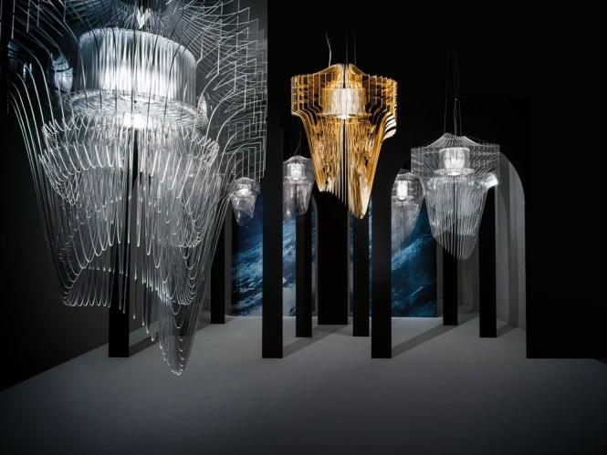Pendant Light Aria Suspension By Zaha Hadid