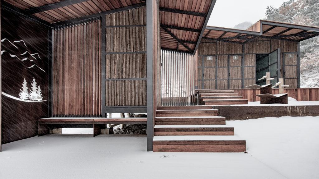 Matériel architectural Toilettes dans les montagnes par Atelier Scale, Yantai, Chine
