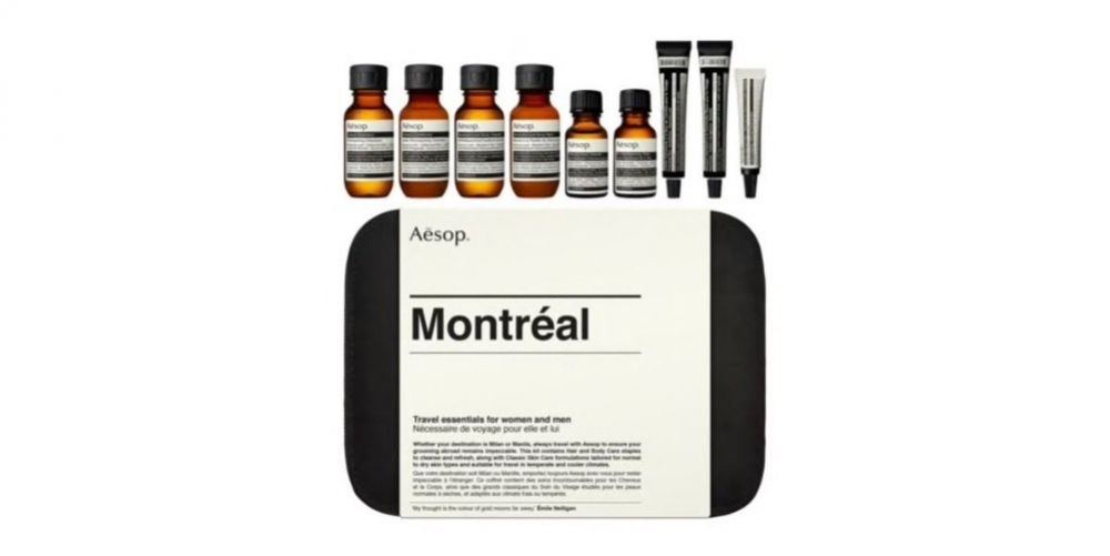 Aesop Montreal Nine-Piece Travel Ensemble de toilettage