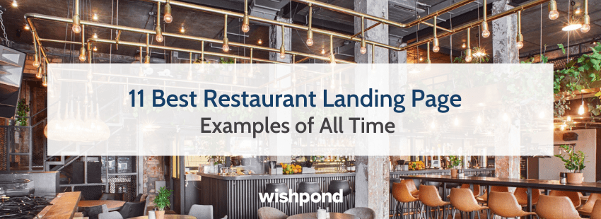 11 Best Restaurant Landing Page Examples of All Time