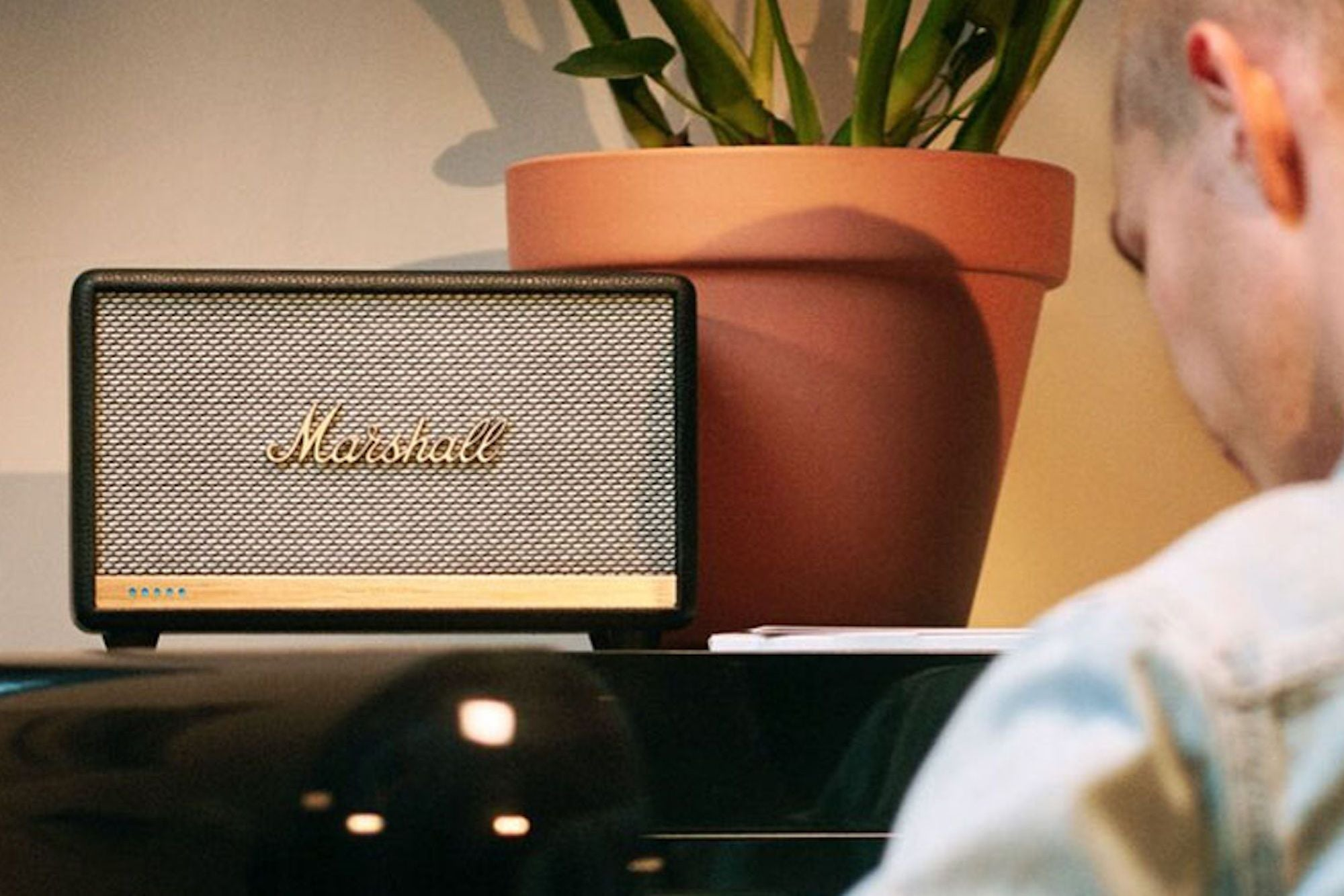 If You're Working From Home, This Marshall Wireless Smart Speaker Can Help Keep You Sane