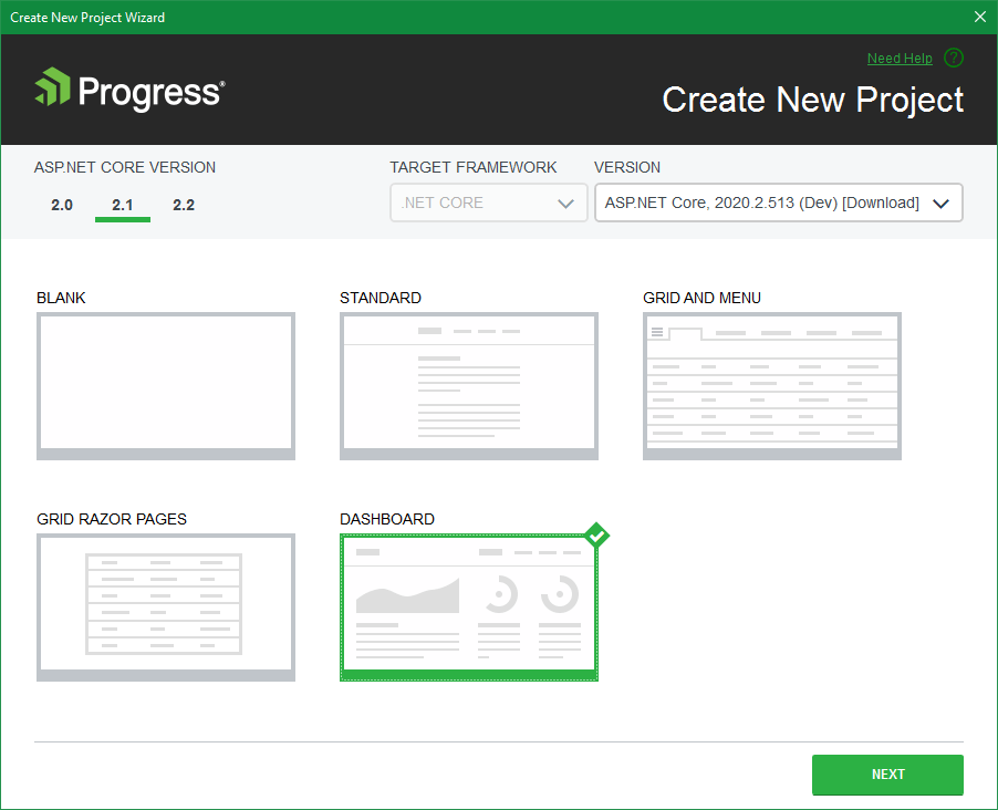 "Telerik UI pour ASP.NET Core VS Project Dashboard Template"" title = ""Telerik UI pour ASP.NET Core VS Project Dashboard Template"" /> <br data-recalc-dims="