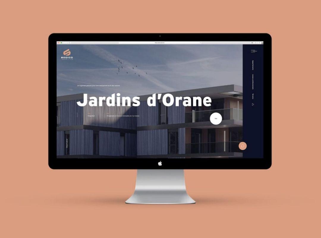 La cohérence du webdesign: ici le graphisme du site internet de Sodico Immobilier, promoteur à Mulhouse en Alsace.