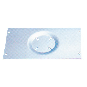 Base en aluminio 330×180 mm para Sillones Marinos
