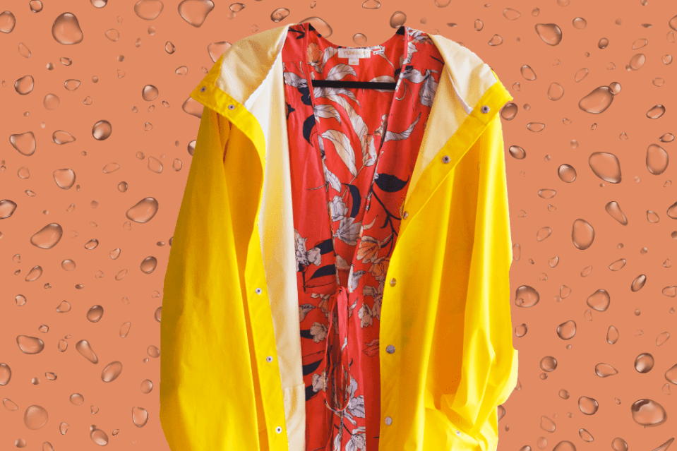 ways to make a raincoat look chic