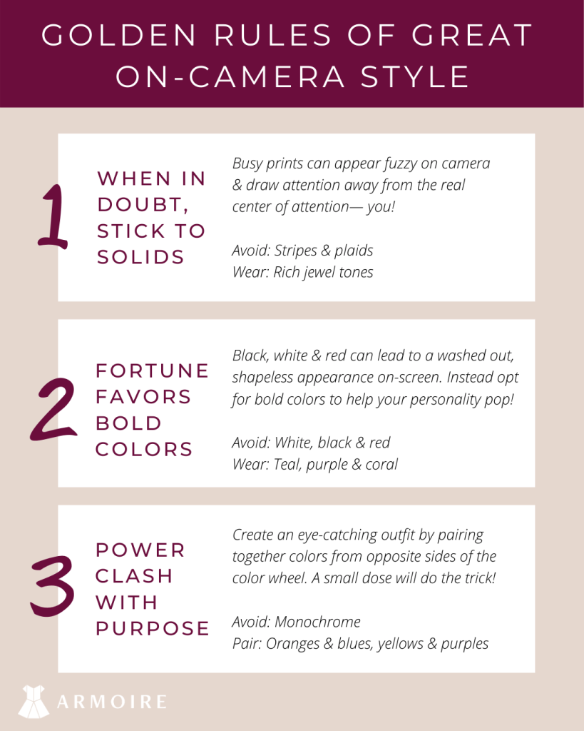 what to wear on camera camera ready
