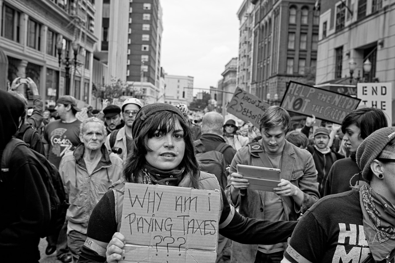 Occupy Portland Protest March 3
