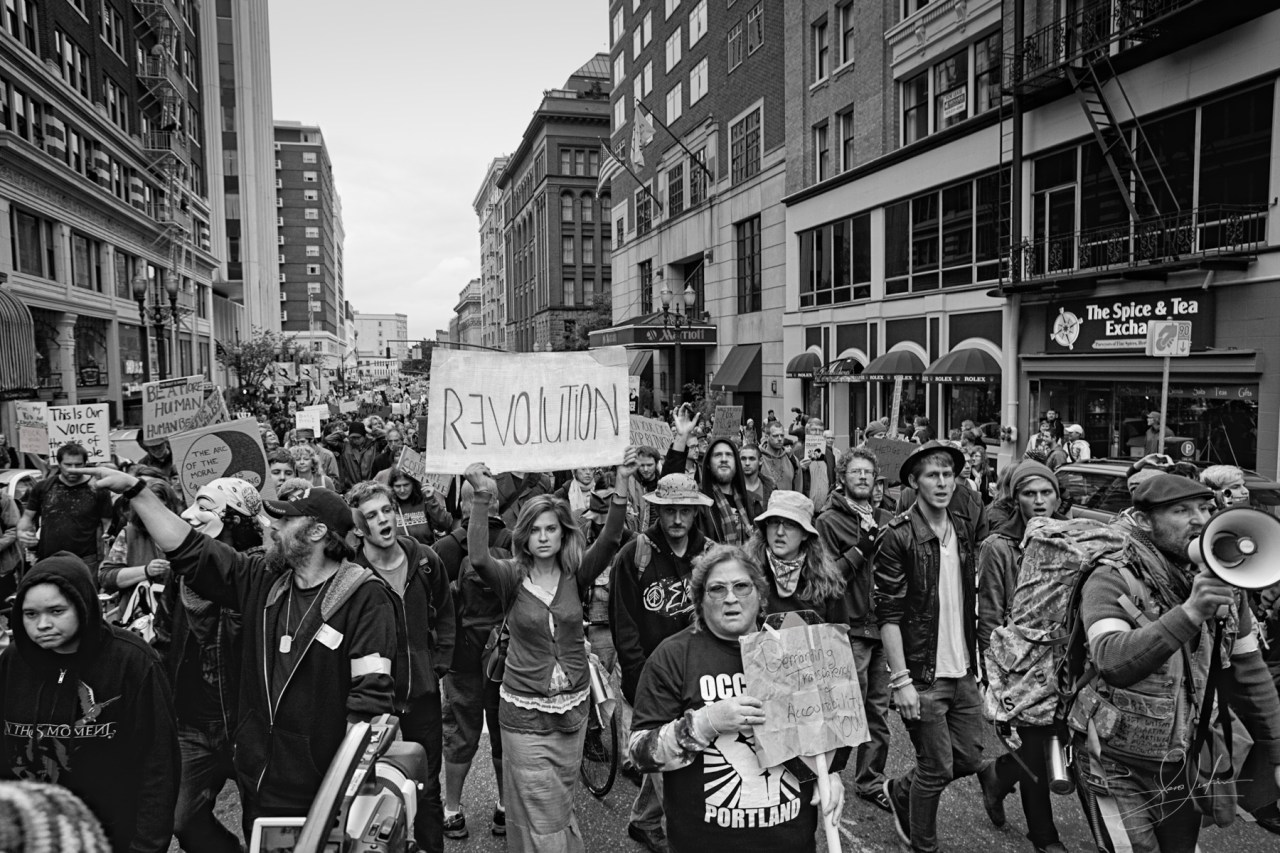 Occupy Portland Protest March 4