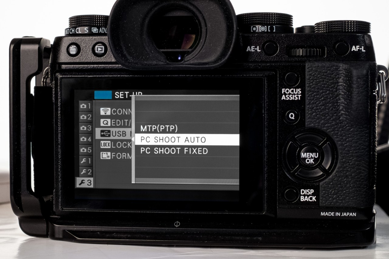 Lightroom Fuji X-T1 Tethered Camera Settings