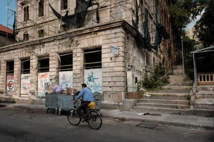 Bike Rider In Mostar, Bosnia and Herzegovina