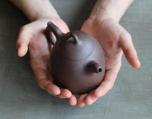 yixing unglazed clay teapot