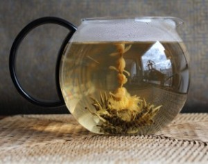 Glass Teapot Flowering Tea