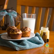 Cinnamon Muffins and Lemon Curd