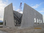 tilt panels - NW elevation
