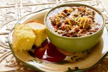 Black Bean Chili and Rosemary Cornbread