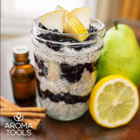 Overnight Oats with Blueberry Lemon Jam