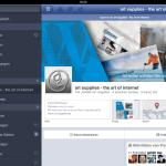 Facebook App auf iPad - nimmt sich den zur Verfügung stehenden Platz