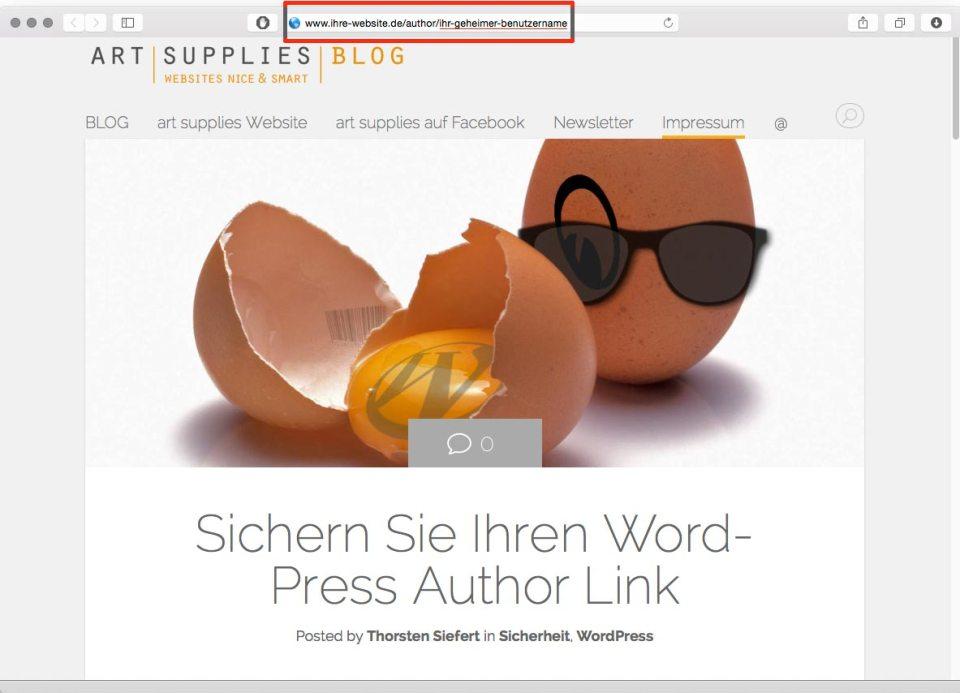 worpress author link