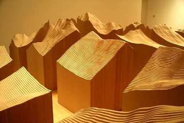 Maya Lin, Blue Lake Pass, Systematic Landscapes, 2006, particle board