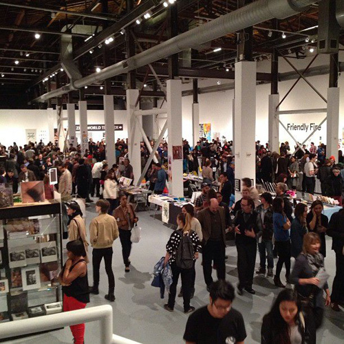 Zine World at the LA Art Book Fair, held at The Geffen Contemporary at MOCA. Photo courtesy Printed Matter, Inc.