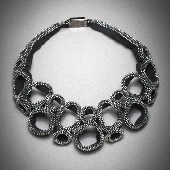 Figure Eight Zipper Necklace by Kate Cusack