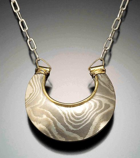 Jaipur Reversible Pendant - Arctic by Lisa Jane Grant
