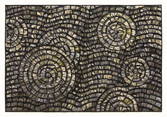 Pewter Wave Mosaic by Tim Harding